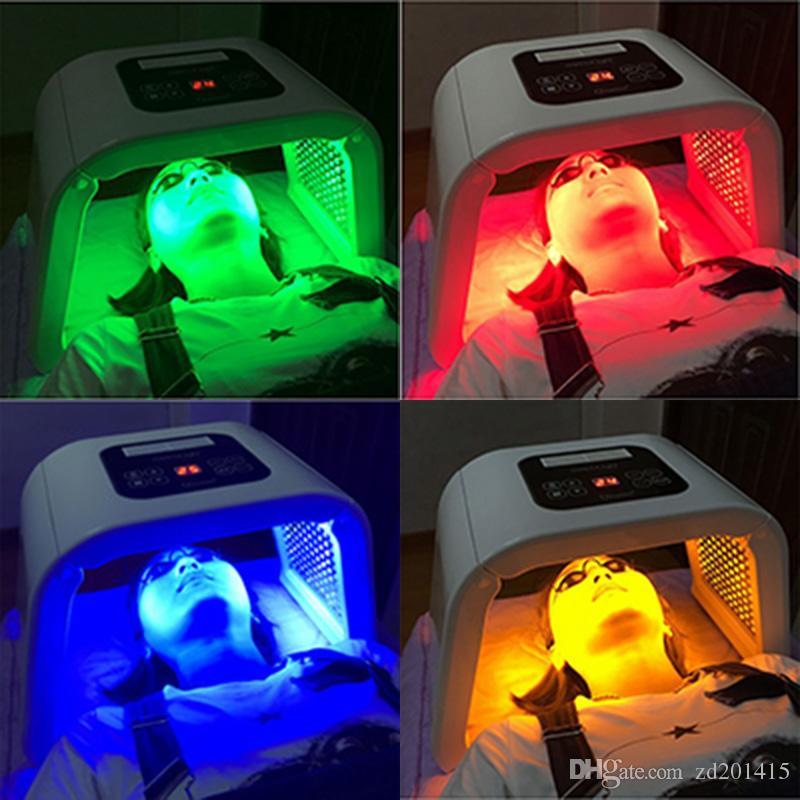 4 cores OMEGA Luz LED Photon máquina de terapia Máscara Facial PDT luz para o rejuvenescimento do corpo Pele Acne tratar Beleza equipamentos de salão de máquina