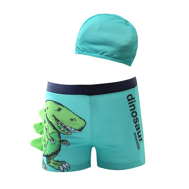 ef641ca17783a 2019 Funfeliz Boy Swimsuit With Swimming Cap Dinosaur Swimming Trunk For Boys  Children Swimwear Baby Swim Wear Kids Bathing Suit 2 10 From Piterr, ...