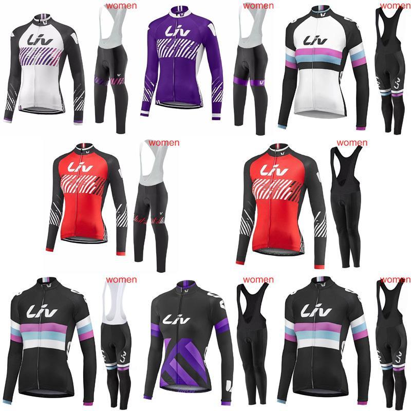LIV Team Cycling Long Sleeves Jersey Bib Pants Sets Spring Autumn Racing  Mountain Bike Cycling Jersey Quick Dry Comfortable 81507J LIV Cycling Jersey  Ropa ... 5f3d6d305