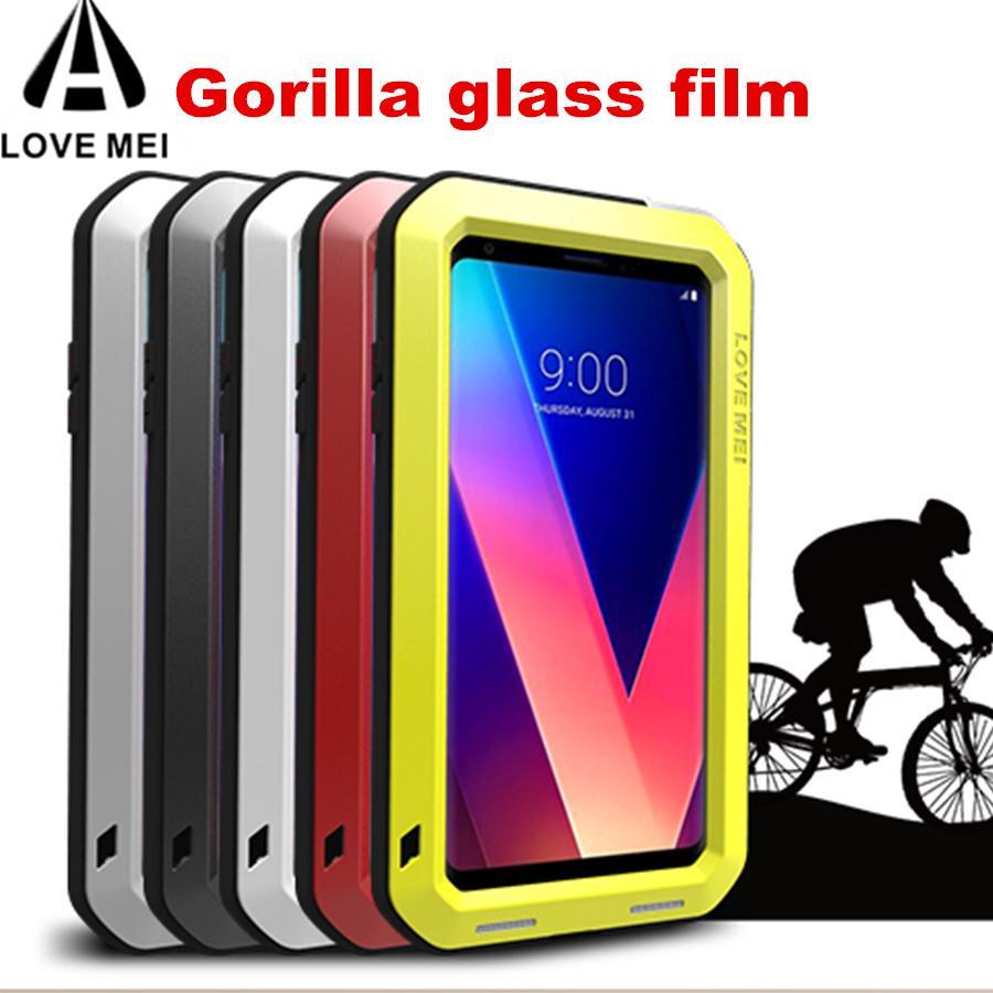 new concept ecb5f 0eac1 Gorilla glass) Love Mei Armor Metal Case For LG V30 V20 V10 Cover Powerful  Aluminum Shockproof Waterproof Case For LG V30 V20