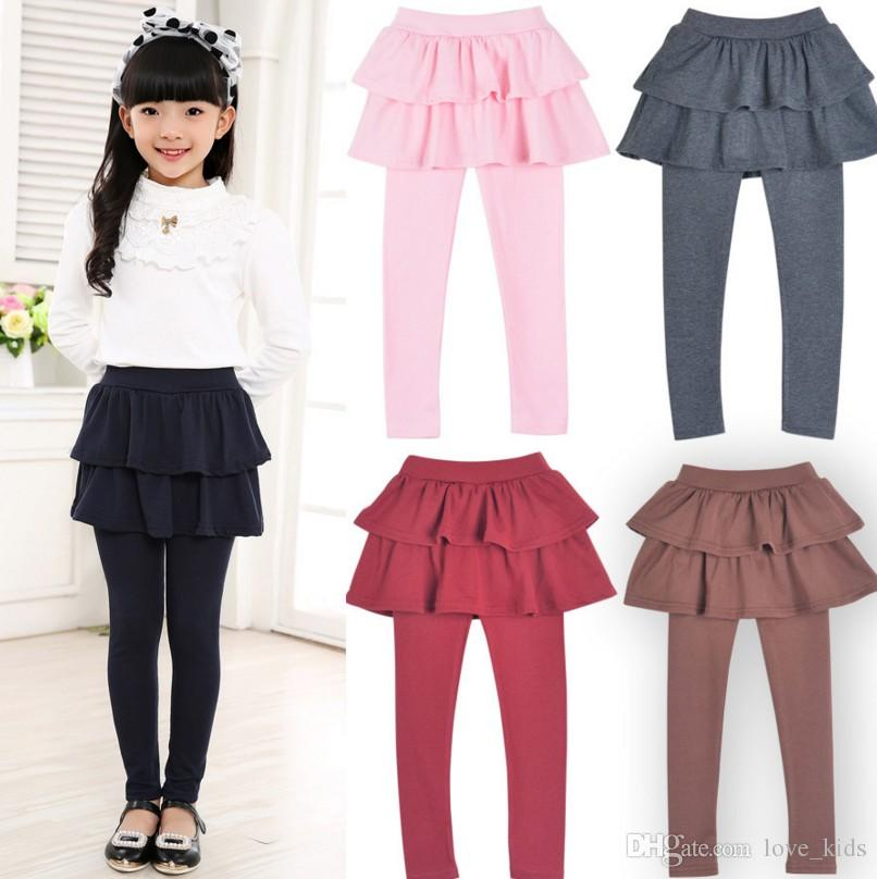 Hot Girls Skirt Pants Autumn New Spring Girls Leggings with Skirt Girls Clothes Children Kids Trousers Leggings Pants for Girl
