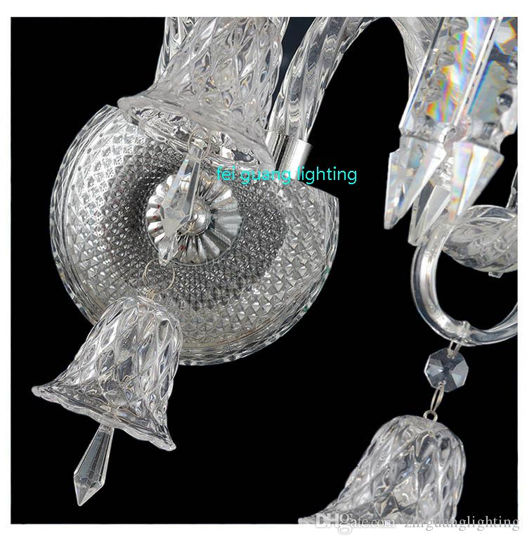 Mounted Hotel Project Crystal lighting Parlor High clear Crystal Wall sconce living room villa Long big led indoor wall lamp