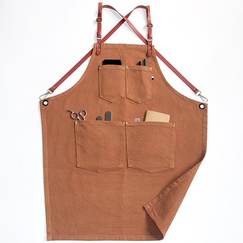 736a3c8677c Denim Cotton Apron Florist Gardener Painter Barber Hairdresser Work Wear  Barista Pastry Chef Bartender Waitstaff Uniform K57 Rubber Apron Aprons For  Sale ...