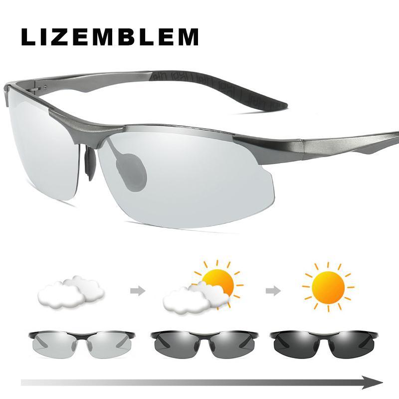 31a8244684e Aluminium Magnesium Photochromic Sunglasses Chameleon Polarized Sun Glasses  Women Men All Day Change Color For Snow Light Shades Polarized Sunglasses  ...
