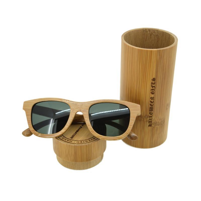 a63fb9779d6 TAC Polaroid Bamboo Sunglasses Men Women UV 400 Wooden Sun Glasses Mirror  Original Wood Driving Outdoor Googles Male Male Sun Glasses Male Glasses  Male Male ...