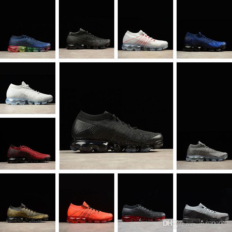 timeless design 1a1bb 4ca88 Acheter Nike Air VaporMax Flyknit 2 Hommes Chaussures De Course Pour Hommes  Sneakers Femmes Mode Athlétique Sport Chaussures Chaude Croix Randonnée  Jogging ...