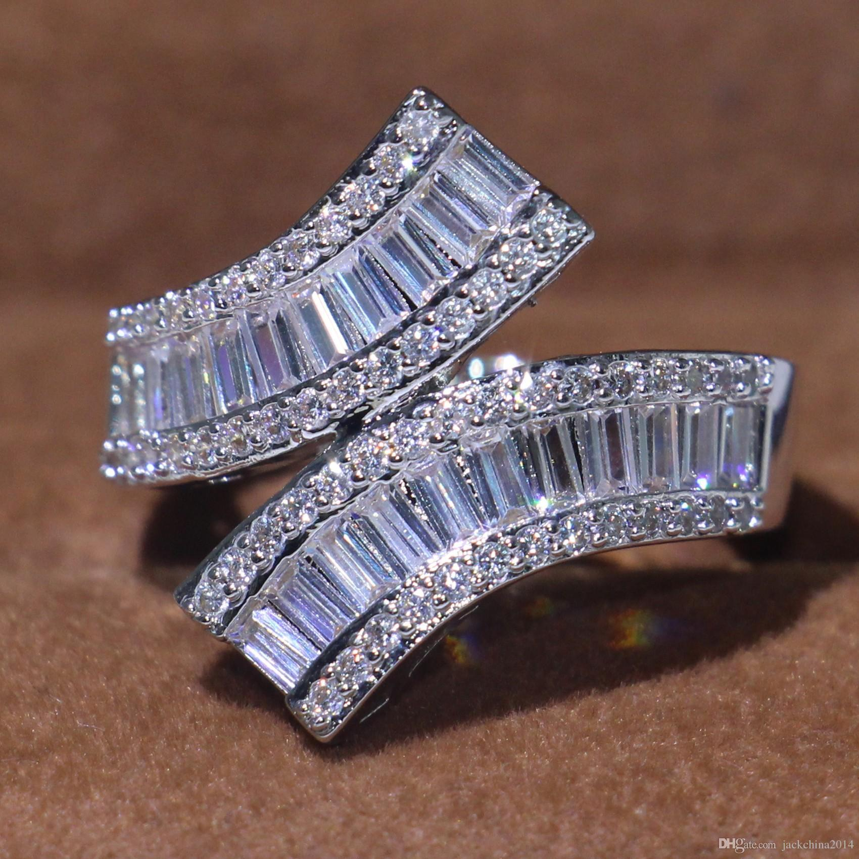 2018 Classical Fashion Jewelry 925 Sterling Silver Princess Cut Full