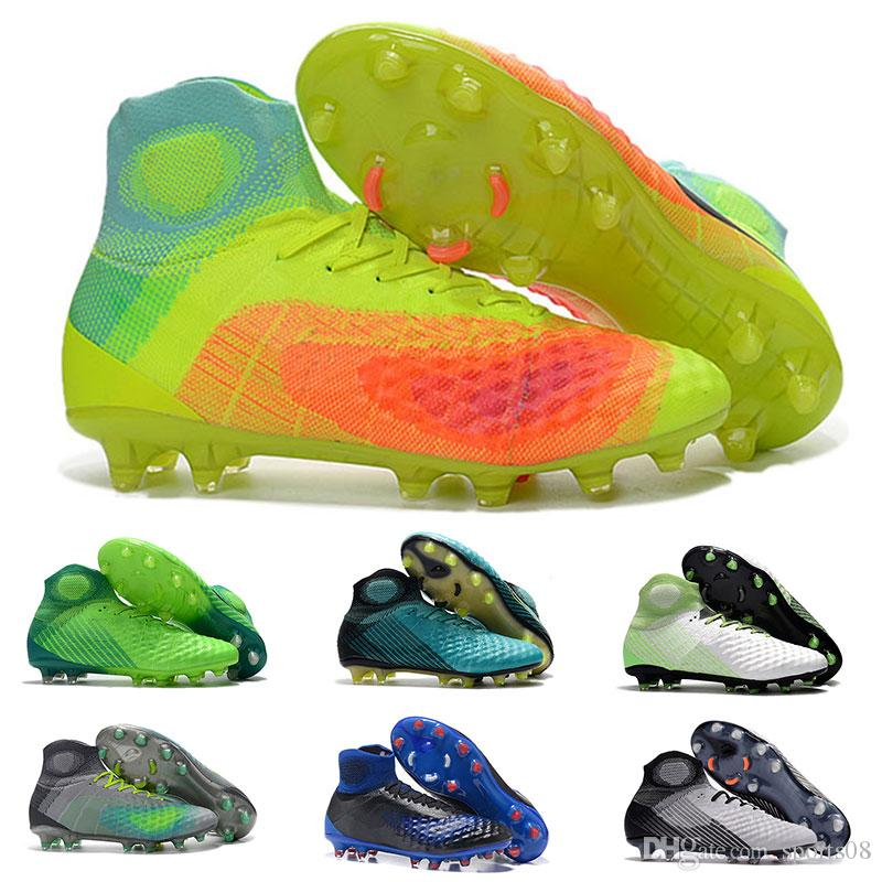 new concept 86864 734d3 Cheapest Magista Obra II FG Football Cleats Mens High Quality MagistaX  Proximo II TF IC Football Boots New Magista II FG Football Shoes