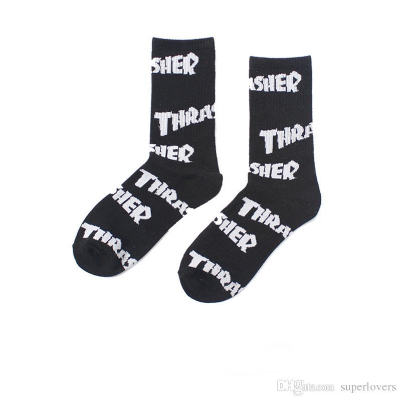Sports Skateboard Stockings For Men Fashion Brand Letter Printed Sock Athletes Socks Hip-Hop Stockings For Unisex
