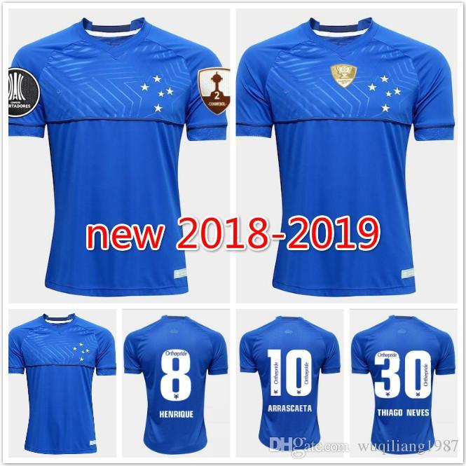 806df144e 2018 2019 CRUZEIRO Soccer Jersey Home 18 19 DE ARRASCAETA Sassa ...