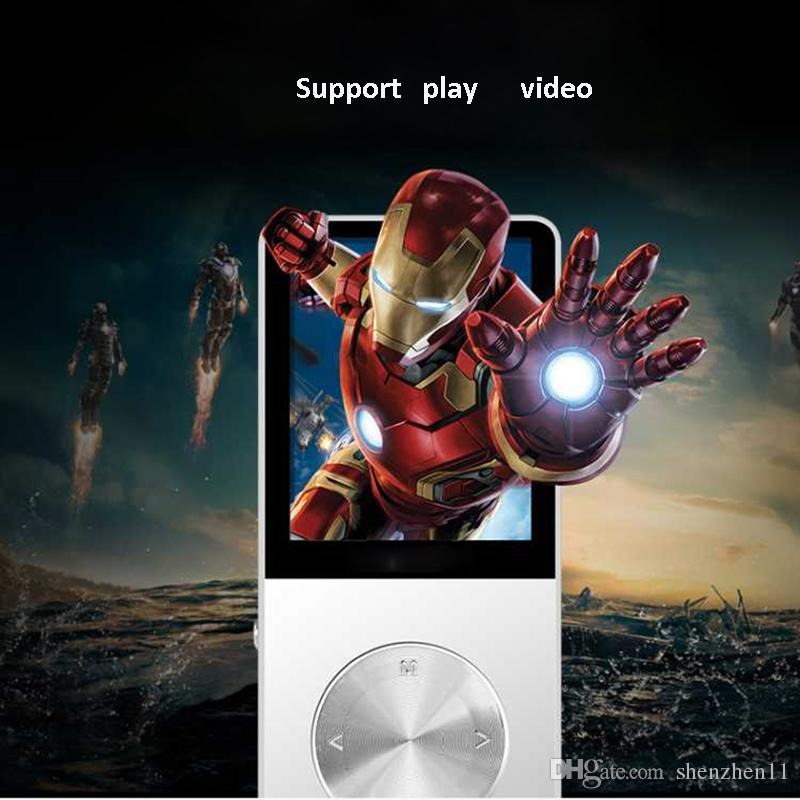 2018 New Metal MP3 MP4 Player 4GB/8GB/16GB Slim Sport MP4 Game Lcd Flash Hifi Mini Music Video Player FM Radio TF Recorder OTH260