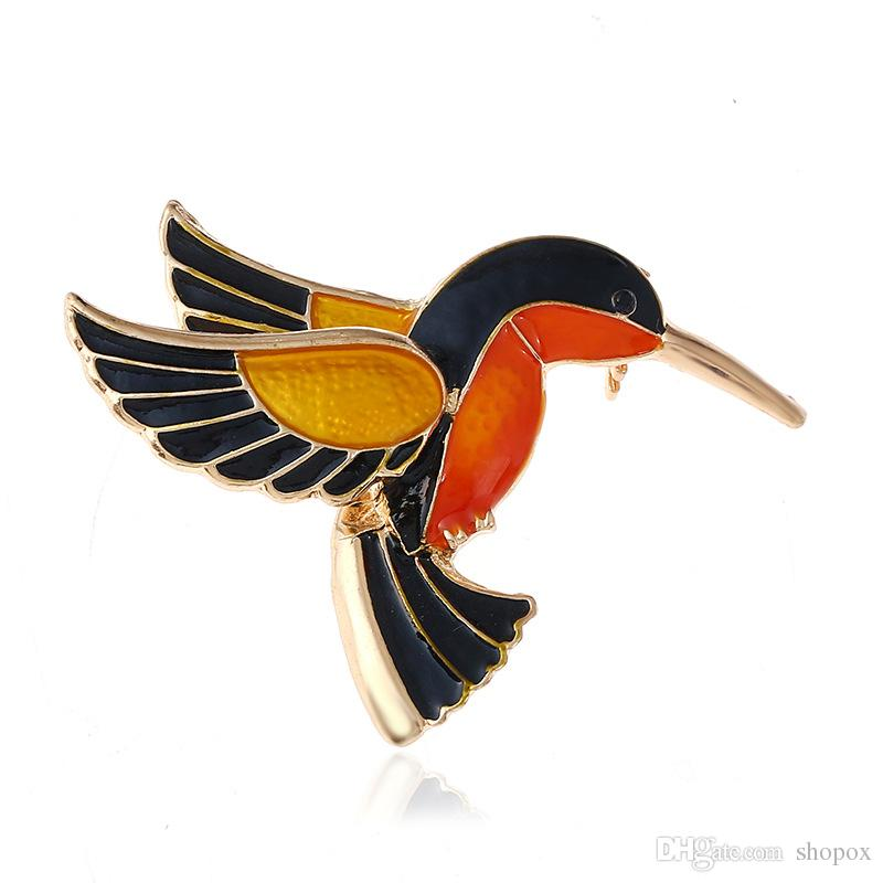 Корсаж Китайский стиль Ретро-Pin Drops Кингфишер Сплав Брошь Маленькая птица Pin Высококачественный темперамент Pin Женская мода ювелирные украшения