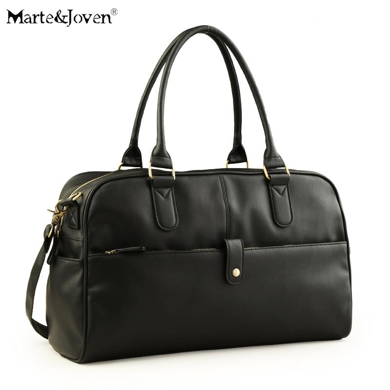 e34be48ae Fashion Luxury Brand Black PU Leather Duffle Bag For Men High Quality Large  Capacity Shoulder Crossbody Travel Bags Luggage Bag Sports Bags Weekend Bags  ...
