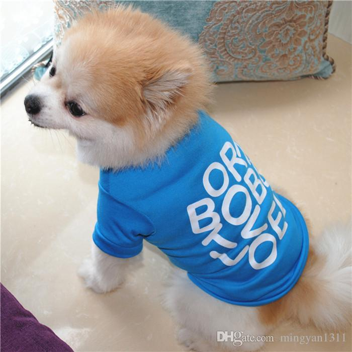 New Spring Summer Pet Dog Born To Be Loved Printed Cotton Short Sleeve T Shirt Breathable and comfortable