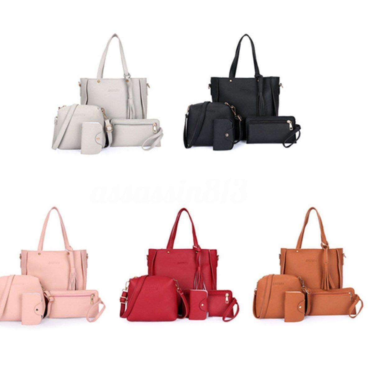 677323b2d76a Fashion Ladies Women Leather Handbag Lady Shoulder Bags Tote Purse  Messenger Satchel Set Y Satchel Handbags Ladies Purses From Bking