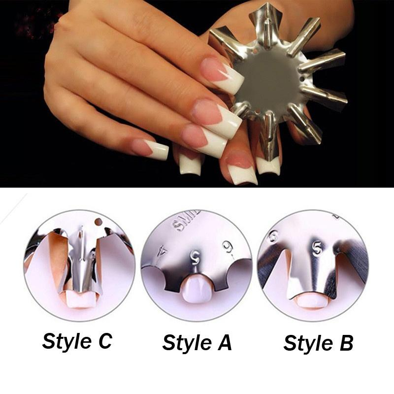 11 Sizes French Manicure Nail Art Tool Edge Trimmer French Smile ...