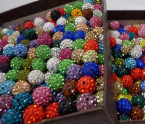 Mixed Disco Bola Pave CZ Cristal Spacer Beads Pulseira 8 10 12mm para Fazer Jóias