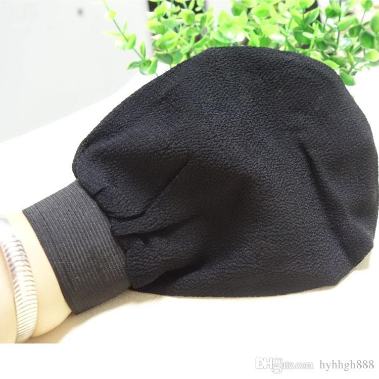 20 adet siyah fas hamam fırçalama mitt, sihirli soyma eldiven, peeling banyo eldivenleri en kaba kaba duygu abd'ye