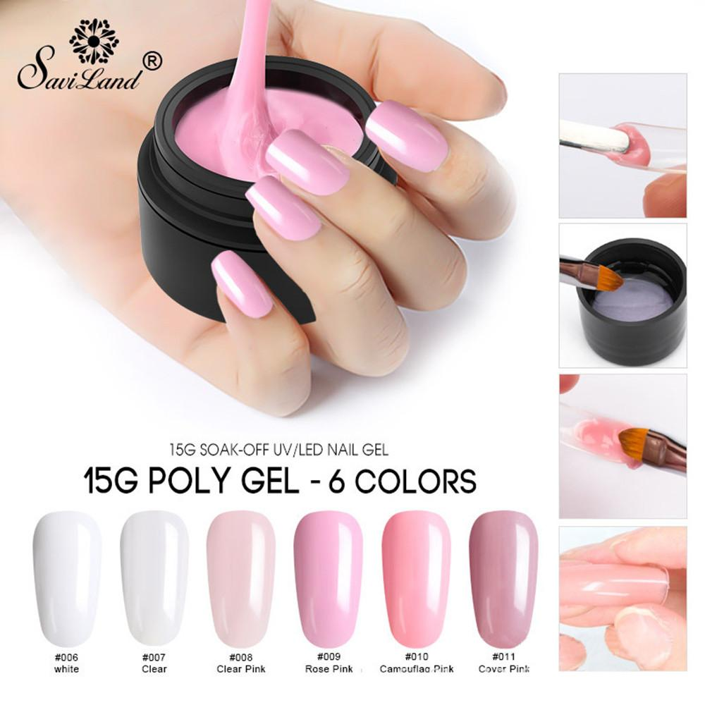 New Upgrade Suit UV&LED Nail Gel Tips Extension Camouflage Builder ...