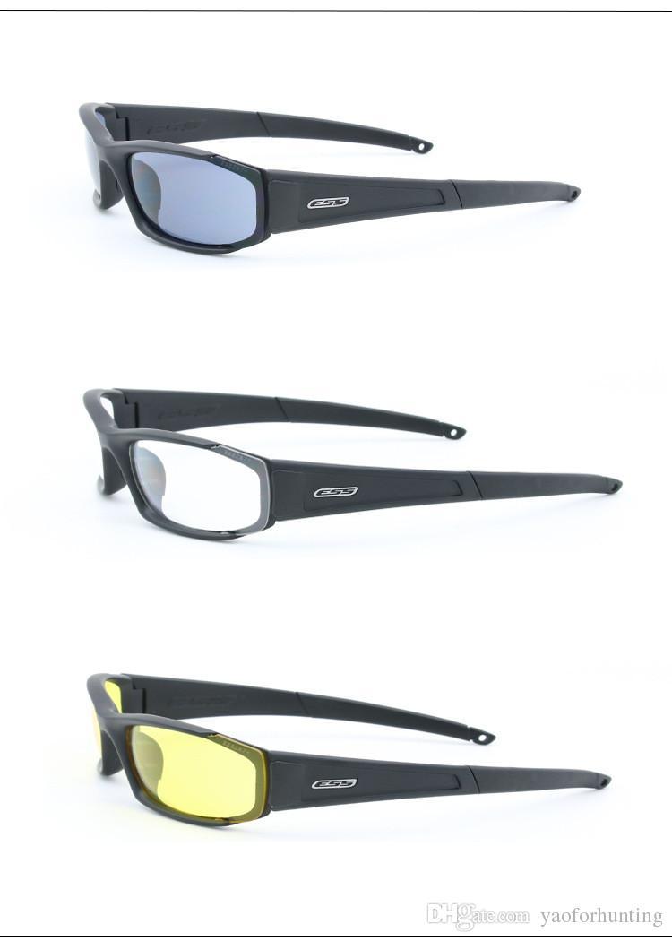 2018 Original polarizado ESS CDI ROLLBAR Ciclismo Gafas de sol Hombres UV400 4 Lentes Gafas Gafas Tácticas Con Estuche