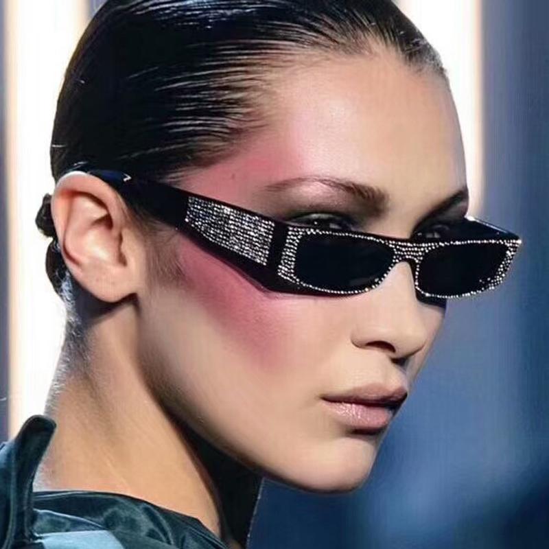 e484213aed Sexy 90S Sunglasses Women Vintage Fashion Small Rectangular Frame Black Red Cat  Eye Sun Glasses Retro Skinny Shades 5151T Glasses Frames Glasses Online  From ...
