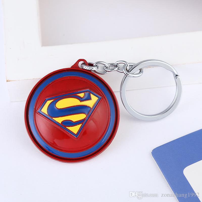 Universal Anime Metal Pendant Superman Logo Key Ring Car Key Chain