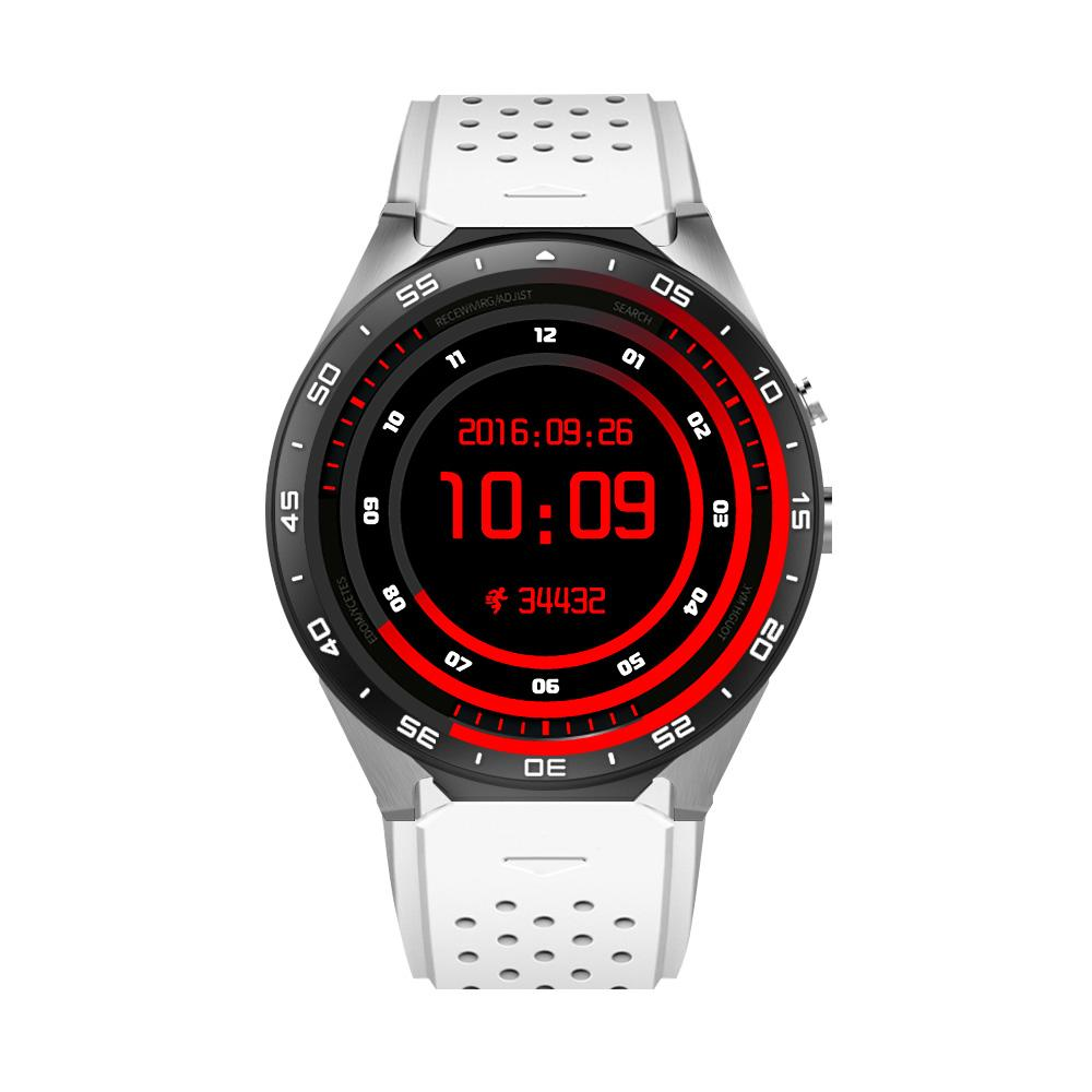KW88 round screen smart watch with phone GSM WCDMA 850 Android wifi APP  download install smart phone watch for men