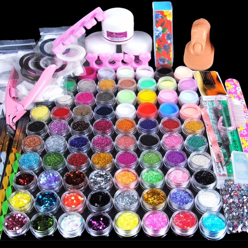 Acrylic Powder Manicure Nail Art Kit Glitter For Nails Diy Acrylic ...