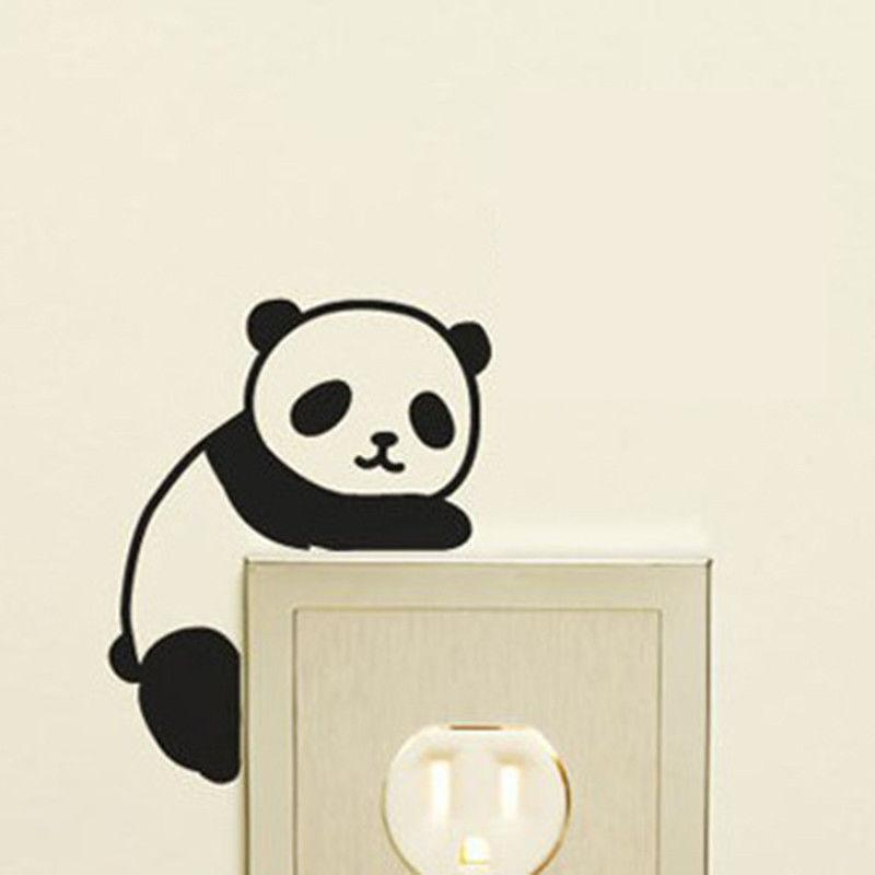 3d wall stickers for kids rooms quote new cute panda switch stickers