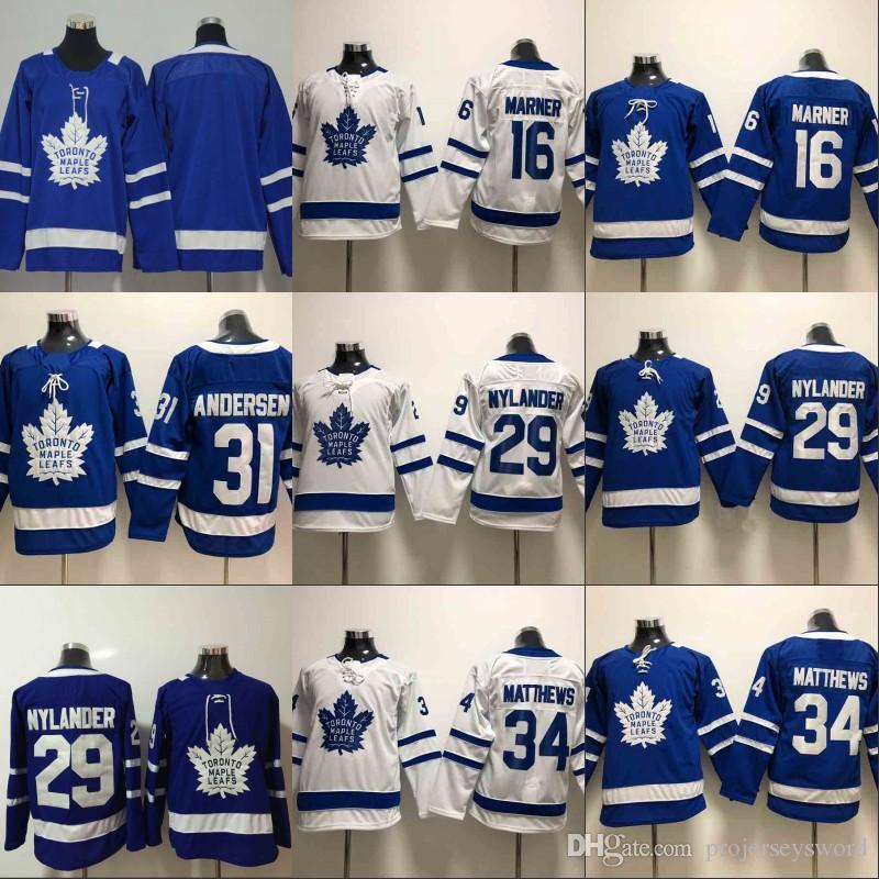 0f63dc55651 2019 Youth 91 John Tavares Jersey Toronto Maple Leafs 16 Mitchell Marner 29  William Nylander 31 Frederik Andersen 34 Auston Matthews Jerseys From ...