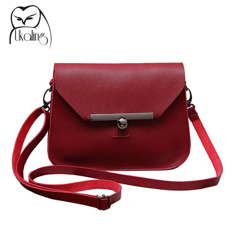 96d1427f73d UKQLING Small Women Messenger Bags Flap Handbag Soft PU Women Bag Lady PU  Leather Purse Cheap Crossbody Bags for Girls 5 Colors Y1891204