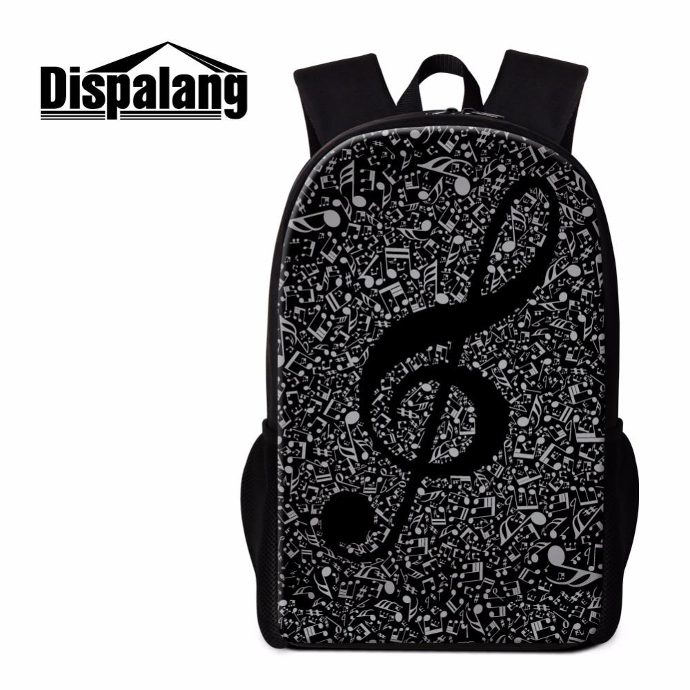 7e59266e89a9 Dispalang Unique Backpack Patterns Musical Notes Art Bookbags Schoolbag For  Girls Cool Rucksack For College High Class Back Pack Backpacks For Men  Jansport ...