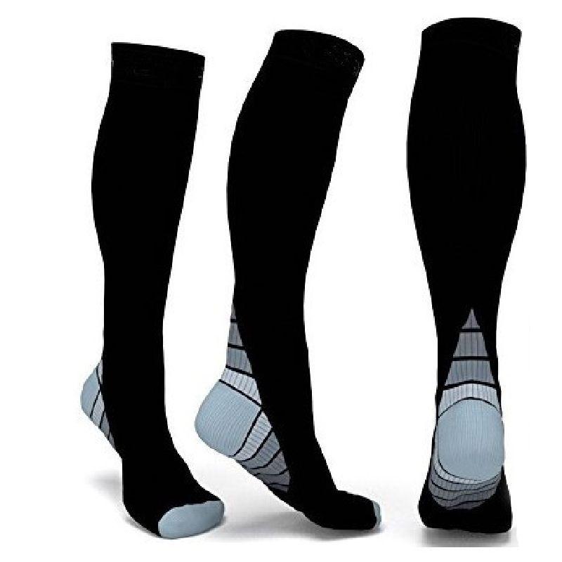 Calzini di compressione degli uomini e delle donne Gradiente di pressione Circolazione Anti-Fatigu ginocchio alto supporto ortopedico Calza spedizione gratuita DHL
