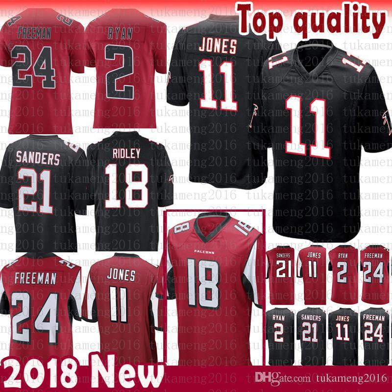 New Atlanta Falcons 2 Matt Ryan 11 Julio Jones 18 Ridley Jersey Limited 21  Deion Sanders 24 Devonta Freeman Jerseys Mens Color Rushred Black UK 2019  From ... a37252617