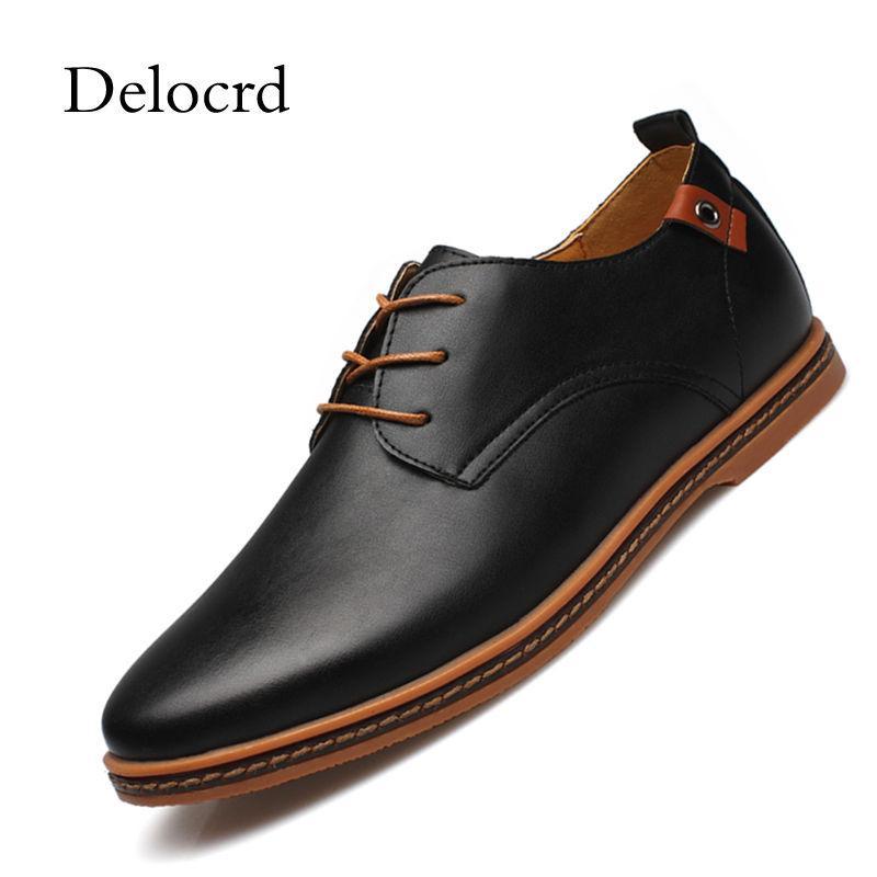 b3e0f9a971e Compre Tallas Grandes 38 48 Hombre Zapatos Oxford Zapatos De Charol Color  Sólido Encajes Negro Marrón Diario Casual Hombres Vestido D A  30.4 Del  Mkfobia ...