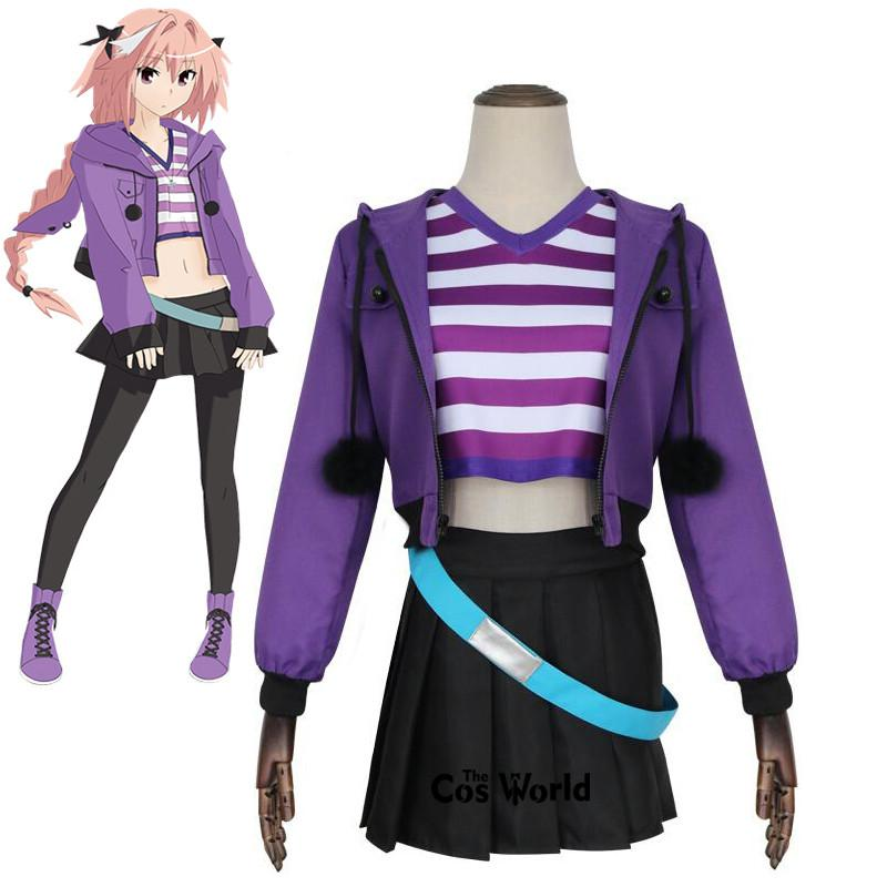 Accessories Cosplay Costumes FGO Fate Grand Order Apocrypha Rider Astolfo Asutorufo Sportswear T-shirt Coat Dress Uniform Outfit Anime Co...
