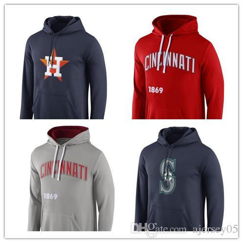 Compre Nuevo Suéter Con Capucha Para Hombre San Diego Padres Seattle  Mariners Cincinnati Reds Houston Astros Royal Logo Performance Pullover  Hoodie A  25.39 ... c2bb0d635cc