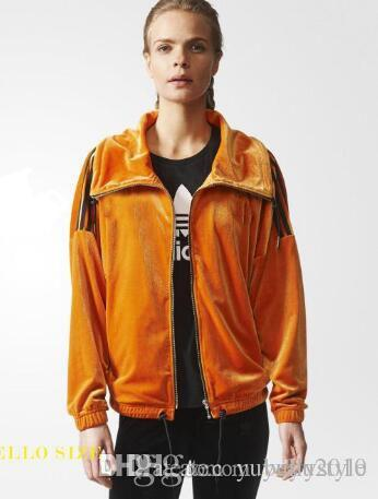 90c313b0b30 2018 New Brand Designer Women Clothes ADID-S Women s Orange Jackets ...