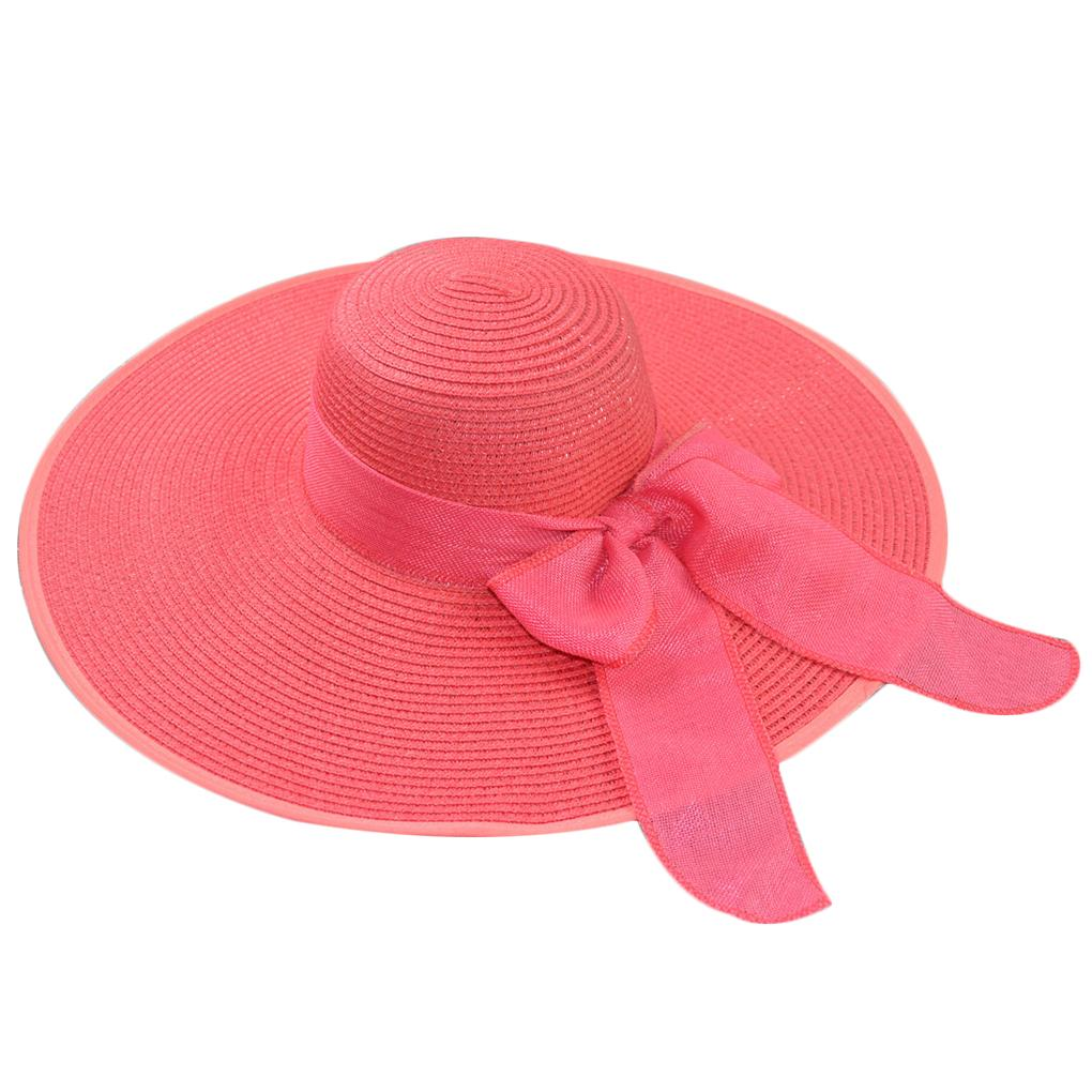 e95b55f54 Summer Straw Hat Women Big Wide Brim Beach Hat Sun Foldable Sun Block UV  Protection Panama Bone Chapeu Feminino