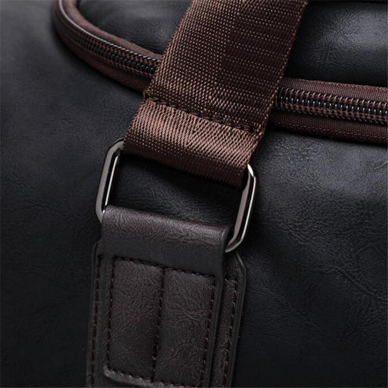 17e407d27 Summer New Men Hand Travel Bags Male Business PU Leather Luggage Bag Luxury  Brand Men's Large Duffel Bag Crossbody Pack A500 Laptop Suitcase Kid  Suitcases ...