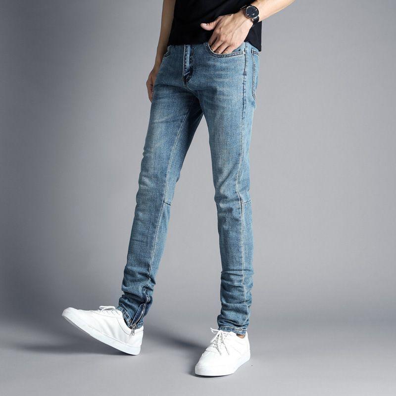 aeb5262036b40 2019 Fashion Streetwear Men S Jeans Blue Color Hip Hop Skinny Jeans Stretch Denim  Pants DSEL Ankle Zipper Brand Punk Jeans Men  2002 From Liujunjie3344
