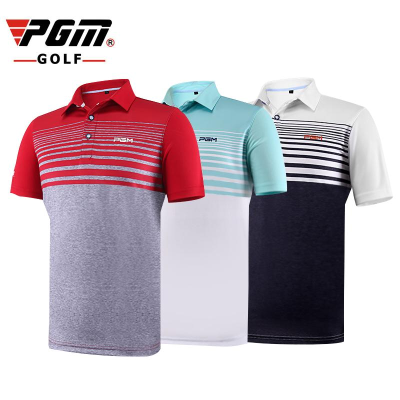 66890363 PGM Men Golf T-shirts Summer Elastic T-shirts Brand Breathable Anti ...
