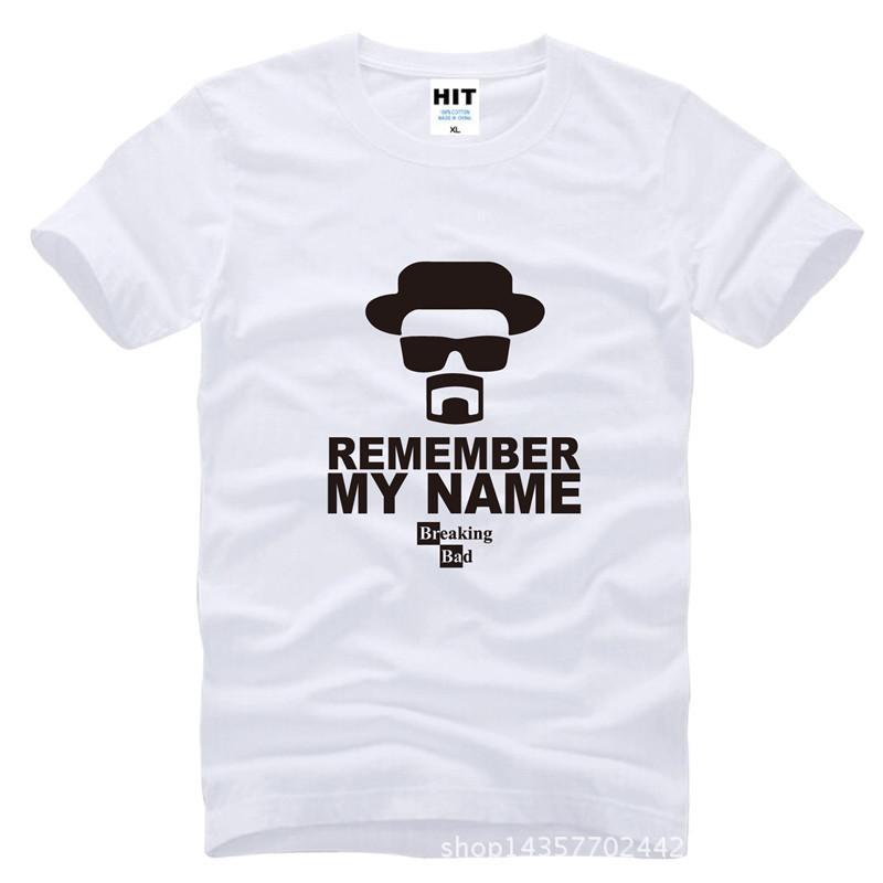 460f2cbf8b374 Compre Recordar Mi Nombre Breaking Bad Heisenberg Walter Camiseta Hombres  Camiseta 2016 O Cuello Camiseta De Algodón Tee Camisetas Hombre A  6.69 Del  ...