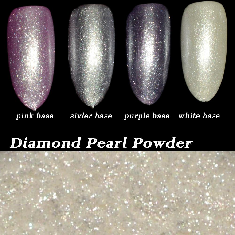 China Dust Suppliers 1g Shinning White Diamond Pearl Glitter Nail ...
