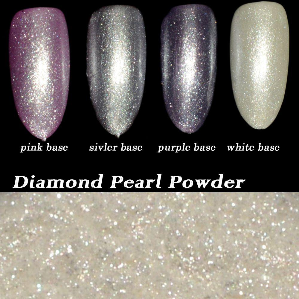 High Quality Dust 1g Shinning White Diamond Pearl Glitter Art ...