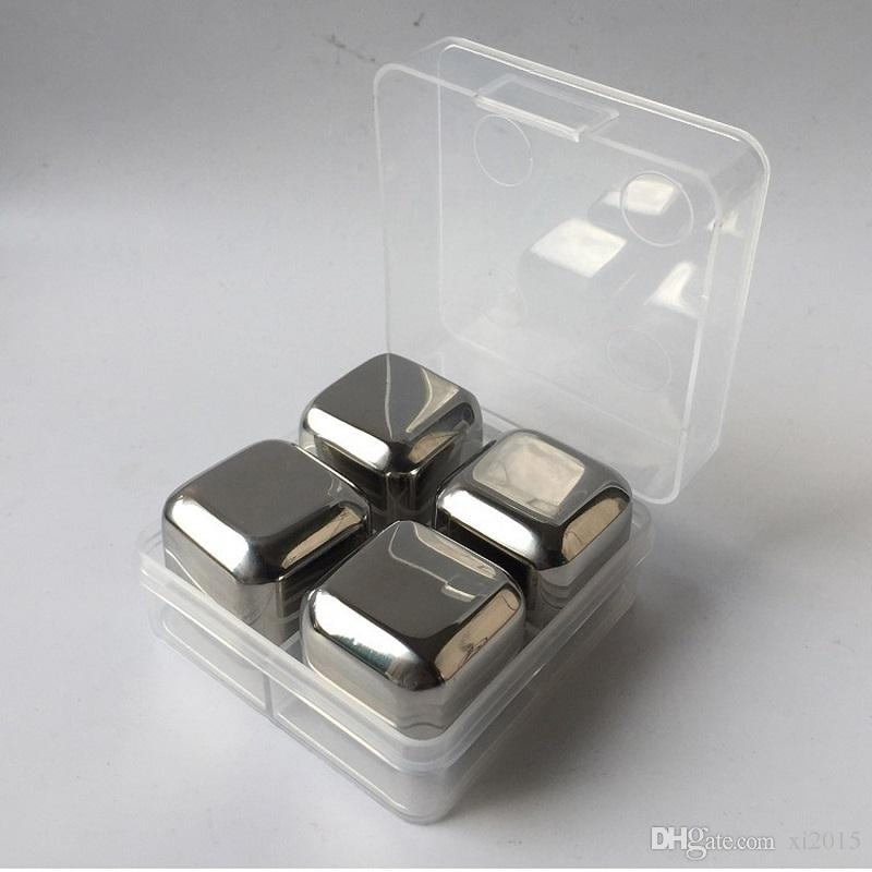 Food grade 304 stainless steel ice cube for freezing drink whiskey stones chiller cooler for bar wen6756