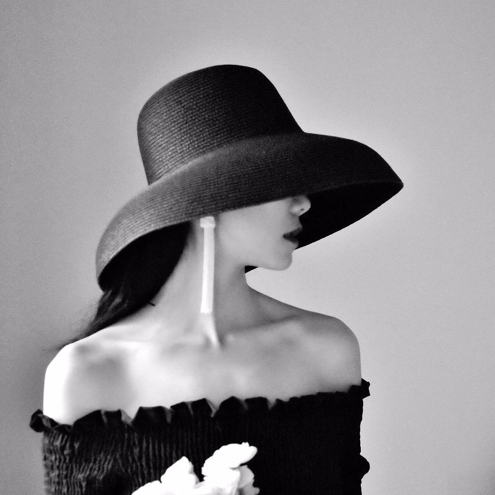 7d7052dace La MaxPa Summer Straw Hat For Women 2018 Fashion Elegant Lady Wide Brim  Floppy Beach Female Visor Sun Hat D18103006 Wool Hat Black Hats From  Yizhan03, ...