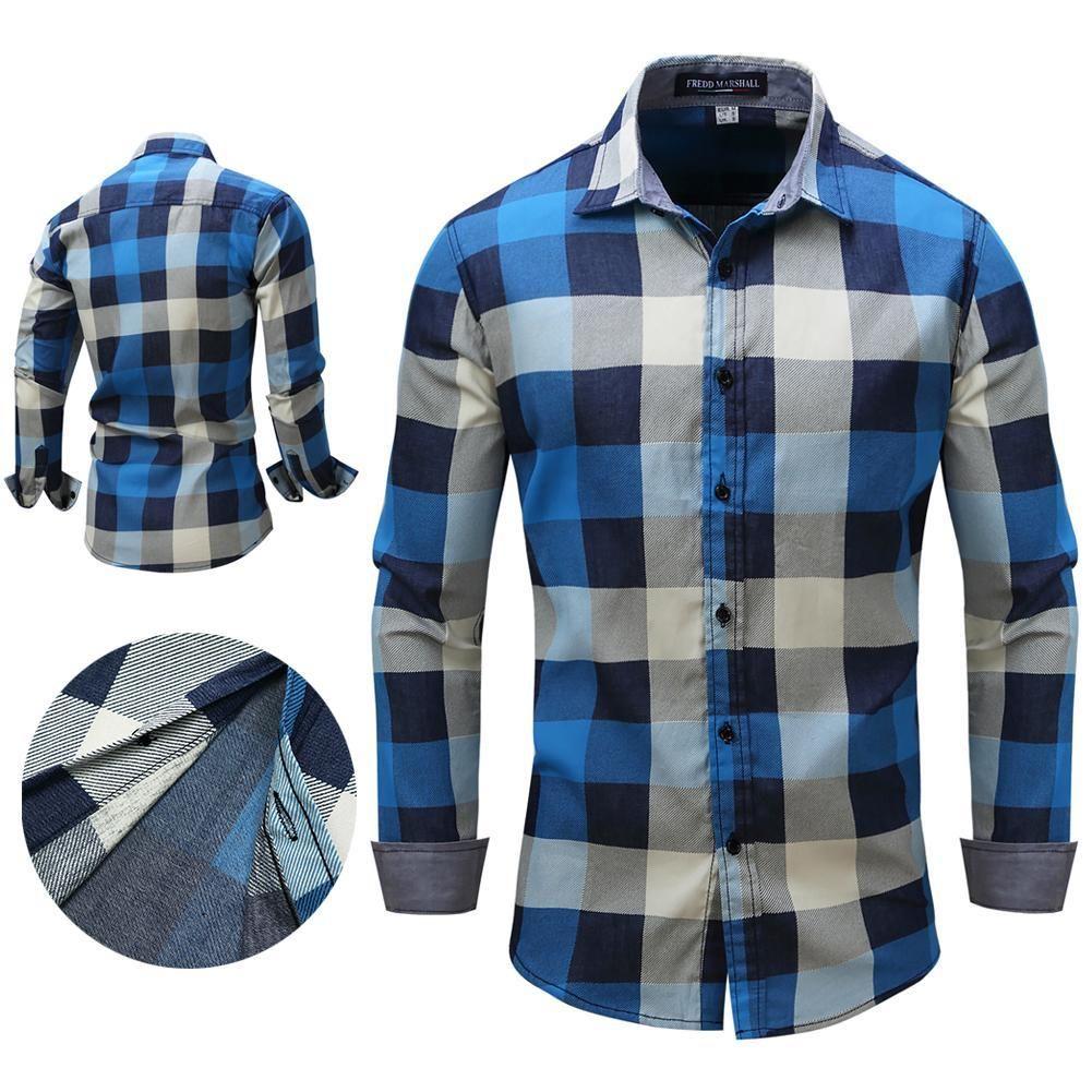 12b5d13be Men s Authentic Cowboy Cut Work Western Long-Sleeve Shirt Slim Fit Button  Shirt Chinese modern beauty