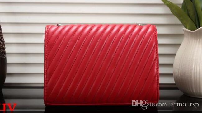 Frauen Messenger Bags Handtaschen Frauen berühmte Marken Designer Umhängetasche Damen Kupplung Geldbörsen und Handtaschen schwarz Kette Tote + Geschenk Lippenstift