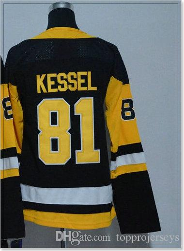Womens #81 Phil Kessel 87 Sidney Crosby Pittsburgh Ice Hockey Uniforms Shirts Sports Pro Team Cheap Jerseys Stitched Embroidery For Sale